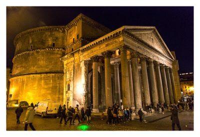 Rom: Geocaching über Silvester - Pantheon von der Seite