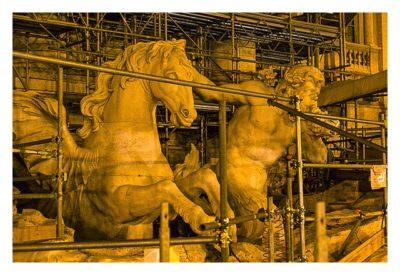 Rom: Geocaching über Silvester - Figuren am Trevi-Brunnen