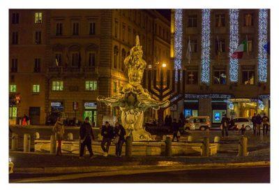 Rom: Geocaching über Silvester - Triton-Brunnen