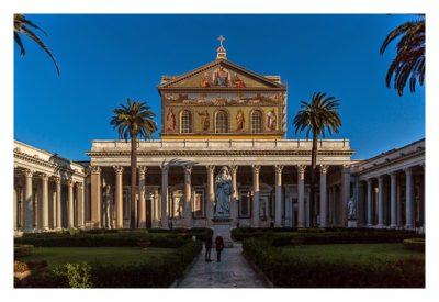 Rom: Geocaching über Silvester - Sankt Paul vor den Mauern: Innenhof