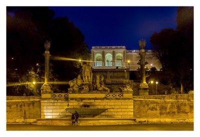 Rom: Geocaching über Silvester - Piazza del Popolo: Aussichtsterrasse