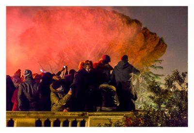 Rom: Geocaching über Silvester - Piazza del Popolo: viele Zuschauer auf der Aussichtsterrasse