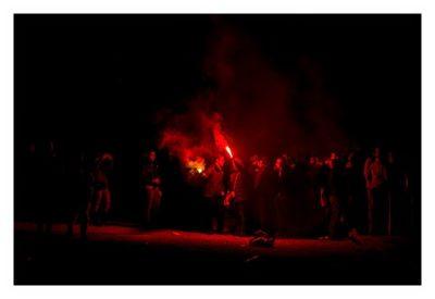 Rom: Geocaching über Silvester - Piazza del Popolo: Lichtspiele