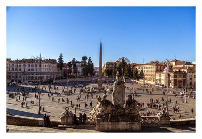 Rom: Geocaching über Silvester - Blick auf die Piazza del Popolo
