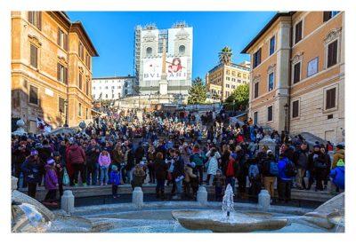 Rom: Geocaching über Silvester - Spanische Treppe