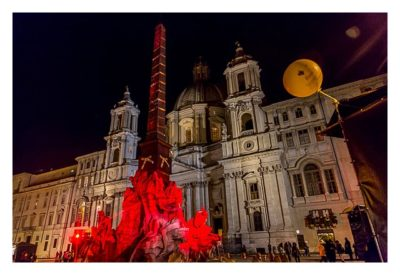 Rom: Geocaching über Silvester - tolle Beleuchtung am Piazza Navona