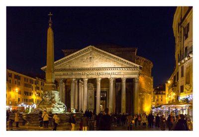 Rom: Geocaching über Silvester - Pantheon von vorne