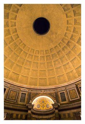 Rom: Geocaching über Silvester - Pantheon - Loch in der Kuppel