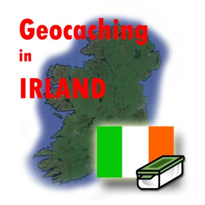 Geocaching in Irland Illustration