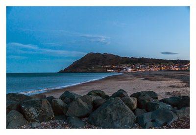 Abendstimmung am Strand von Bray in Irland