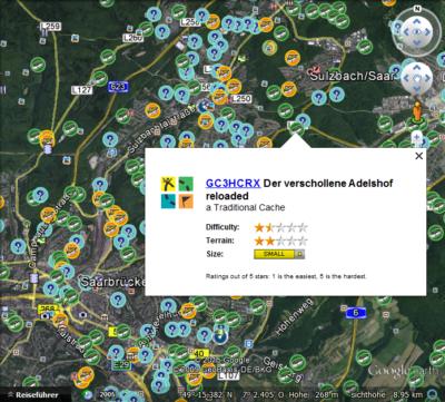 Karte mit geöffnetem Geocache.png