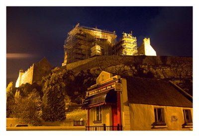 Rock of Cashel - Am Eingang bei Nacht