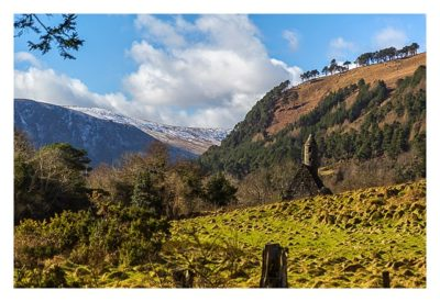 Wicklow-Mountain - Glendalough: Blick auf die Kapelle