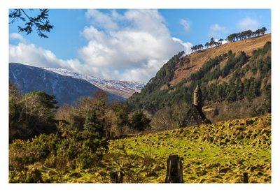 Wicklow-Mountain - Glendalough: Blick auf die Kapelle