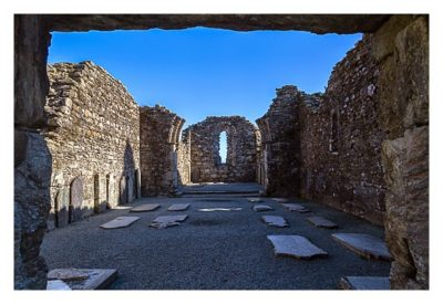 Wicklow-Mountain - Glendalough: Die Ruine der Kathedrale