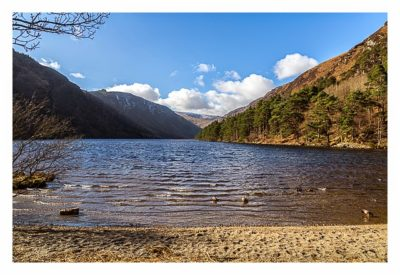 Wicklow-Mountain - Glendalough: Blick über den Upper Lake