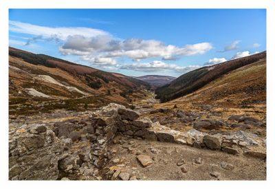 Wicklow-Mountain - Wicklow Gap: Ruinen