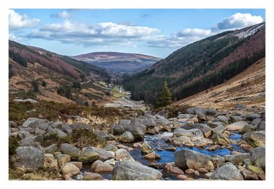 Wicklow-Mountain - Wicklow Gap: Blick auf Glendalough