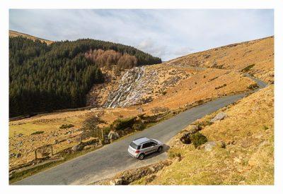 Wicklow-Mountain - die alte Militärstrasse: Glenmacnass