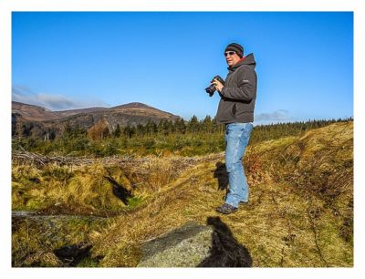 Wicklow-Mountain: Saarfuchs bei Landschaftsaufnahmen