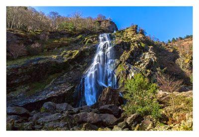Wicklow-Mountain - Powerscourt Wasserfall: aus der Nähe