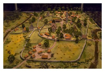 Wicklow-Mountain - Glendalough: Modell im Museum