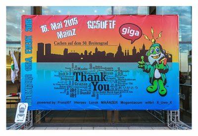 """Geocaching Giga-Event """"Gutenberg 2015"""" - Das Veranstaltungsplakat"""