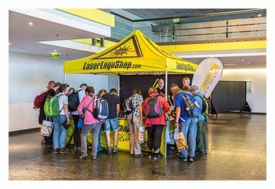 """Geocaching Giga-Event """"Gutenberg 2015"""" - Stand vom LaserLogoShop"""