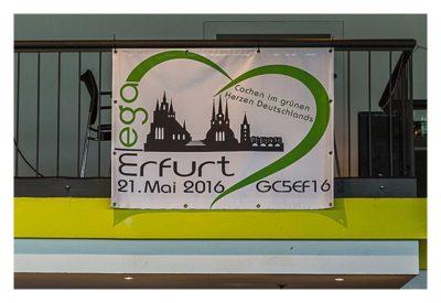 "Geocaching Giga-Event ""Gutenberg 2015"" - Plakat des Mega Erfurt 2016"