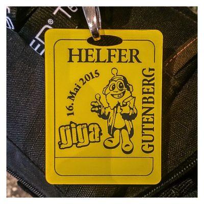"Geocaching Giga-Event ""Gutenberg 2015"" - Helferausweis"