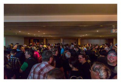 """Geocaching Giga-Event """"Gutenberg 2015"""" - Warten auf die Verlosung"""