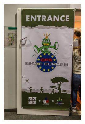 "Geocaching Giga-Event ""Gutenberg 2015"" - GPS Maze Europe - Der Eingang"