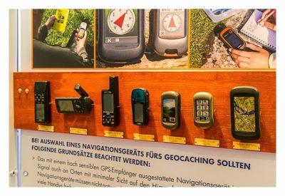 """Geocaching Giga-Event """"Gutenberg 2015"""" - GPS Maze Europe - Generationen von GPS-Geräten"""