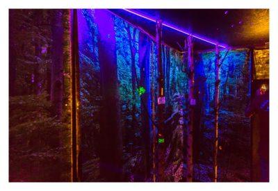 """Geocaching Giga-Event """"Gutenberg 2015"""" - GPS Maze Europe - Demonstration UV-Licht"""