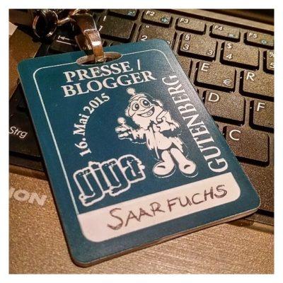 """Geocaching Giga-Event """"Gutenberg 2015"""" - Blogger und Presseausweis"""