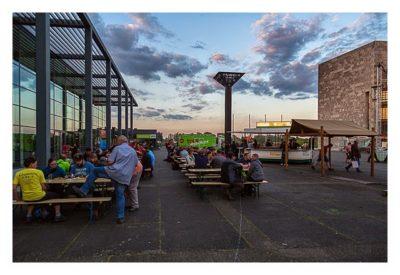 """Geocaching Giga-Event """"Gutenberg 2015"""" - vor der Rheingoldhalle"""