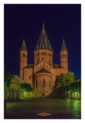 """Geocaching Giga-Event """"Gutenberg 2015"""" - Mainzerdom bei Nacht"""