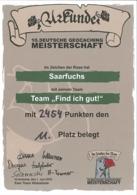2013-Urkunde