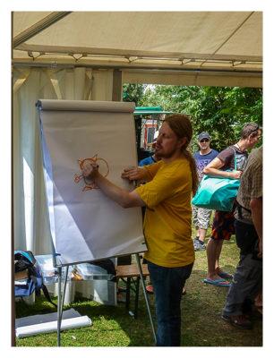 Mega am See 2015 - Jascha bei der Arbeit...