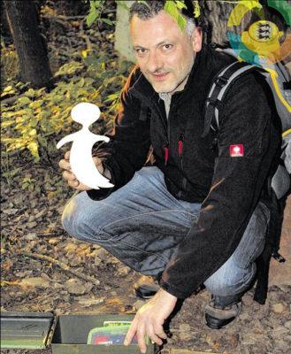 """Micha, der mit einigen Mitstreitern den Geocaching-Blog """"GeocachingBW ? Geocaching in Baden-Württemberg"""" betreibt."""