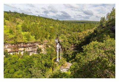 Natur pur im Pirituba Canyon - Der erste Blick auf den Wasserfall