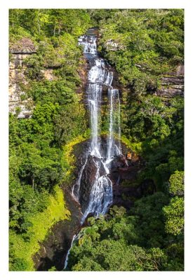 Natur pur im Pirituba Canyon - Der Waserfall in groß