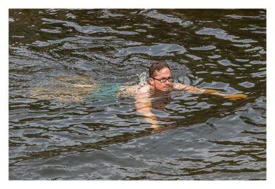 Natur pur im Pirituba Canyon - Der einzige Schwimmer