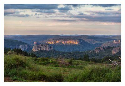 Natur pur im Pirituba Canyon - Abendstunden im Canyon - Die Felsen im Canyon