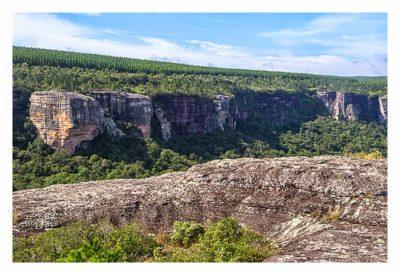 Natur pur im Pirituba Canyon - Felsen soweit das Auge reicht