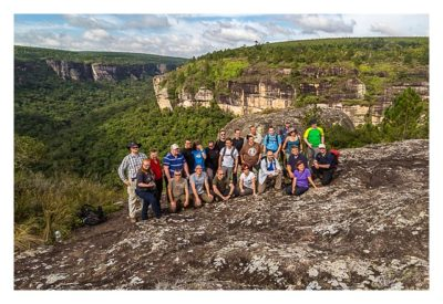 Natur pur im Pirituba Canyon - Unser Gruppenfoto