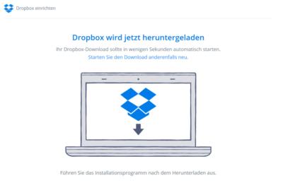 Dropbox für Geocacher: Screenshot Client für Windows herunterladen