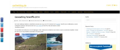 Screenshot der Webseite cacherblog.de, die ich hier im Artikel vorstelle