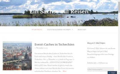 """Screenshot der Webseite """"Ein Sachse auf Reisen"""", die ich hier im Artikel vorstelle..."""