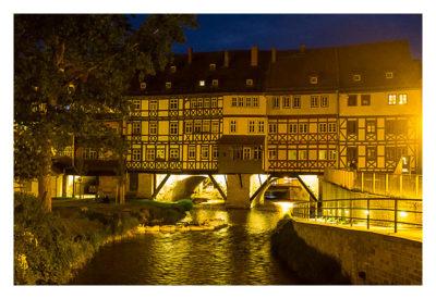 Nachtwächterführung - Erfurt - Vor der Krämerbrücke